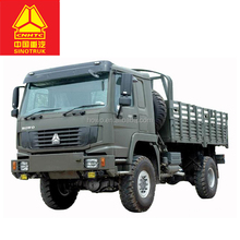 Sinotruck HOWO 4x4 All Wheel Drive Vehicle Cargo Truck / Military Quality for sale