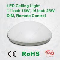 2015 popular smd led chip 25w led romote control ceiling light round led ceiling light with PMMA diffuser