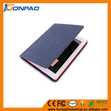 China factory price Cotton cloth Stand Wallet Phone Case for iPad 2/3/4/air/air 2 / pro 9.7 Tablet case with card slot