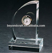 sailing boat clock crystal trophy for table clock