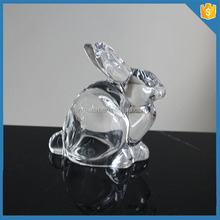 Rabbit Animal Design Christmas Clear Glass Ornaments