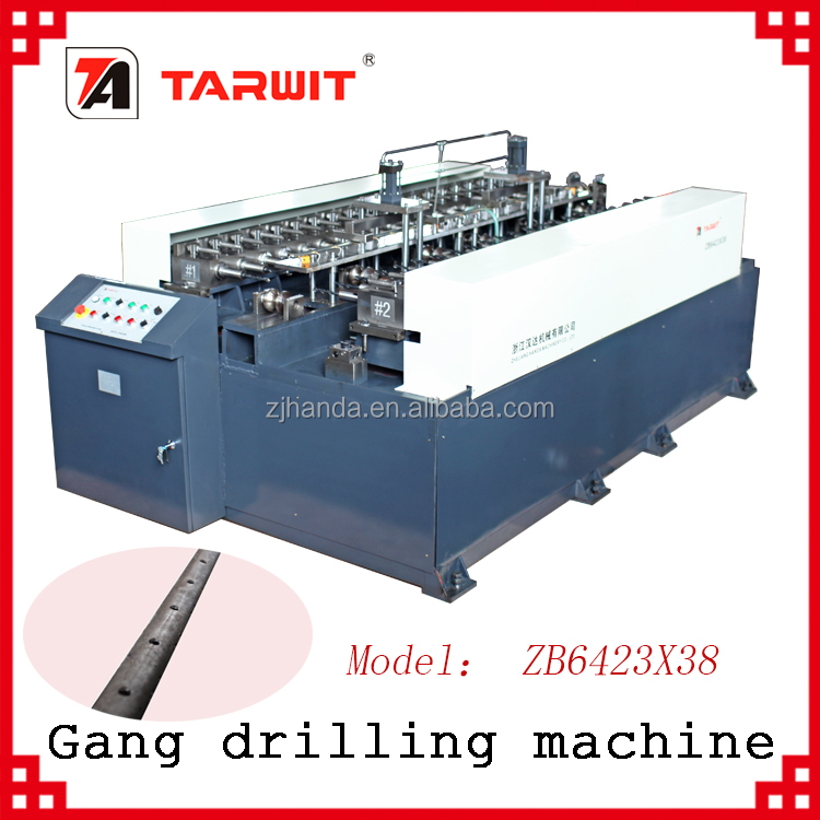 TARWIT export to UAE high efficient automatic unloading multi head drilling machine model ZB for scaffolding tube