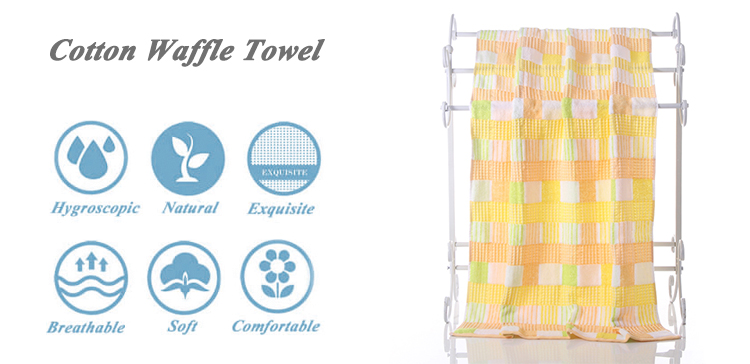 100% cotton waffle bohemian towel chill four seasons towels