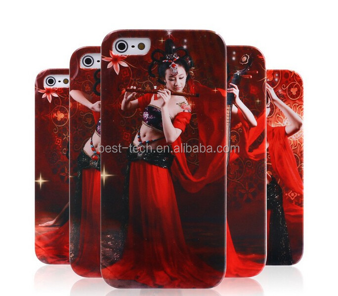 High Quality Beautiful Girl Plastic Mobile Phone Case for iPhone5 5S