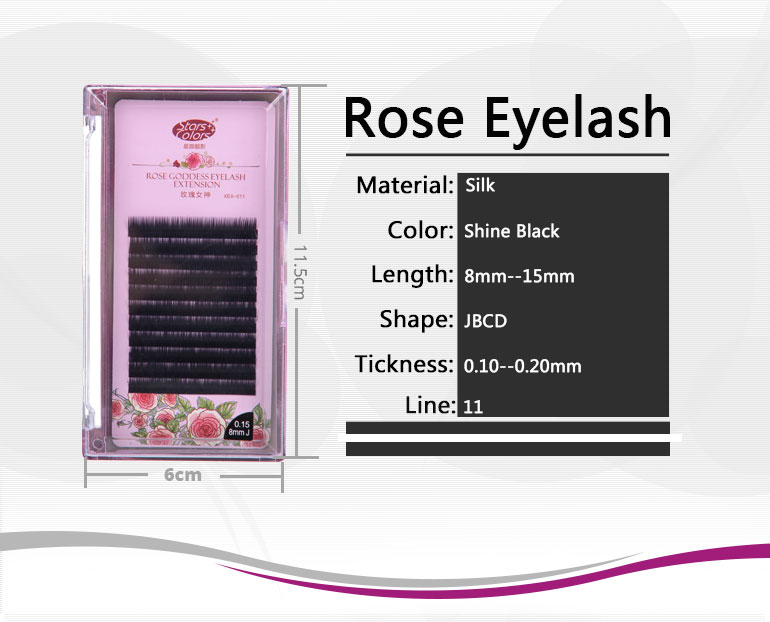 Eyelash extension shiny black silk single eyelash