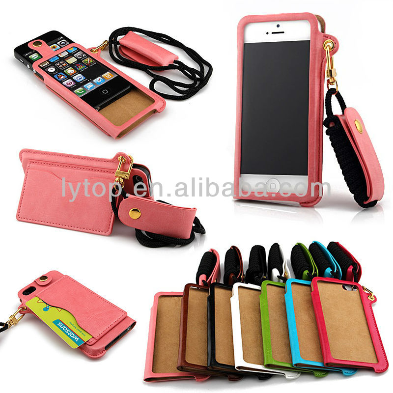 fancy wallet leather bag pouch cover case for iphone5 5s
