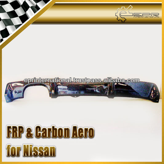 For Nissan Skyline R34 GTR OEM Carbon Fiber Rear Bumper Diffuser Add On