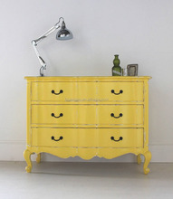 Wholesale wooden yellow chest of drawers home furnitures