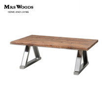 Mrs woods french style solid fir wood steel leg coffee table design