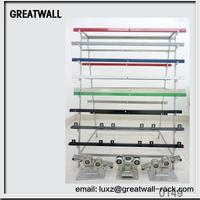 2015 Hot sale!!! stainless steel zine black plastic rack gear for all kind of gear rack