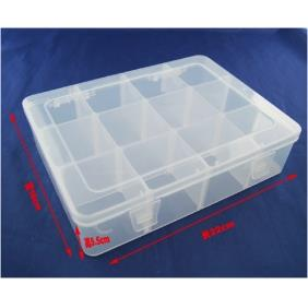 Wholesale spare parts Portable Storage Box 12 Compartment Plastic Tool Case E-211