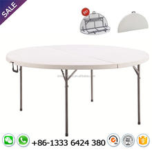 10 seater round plastic hdpe folding table dining for outdoor dinner banquet party