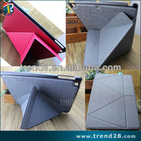 transformer design folding stand leather case for ipad air