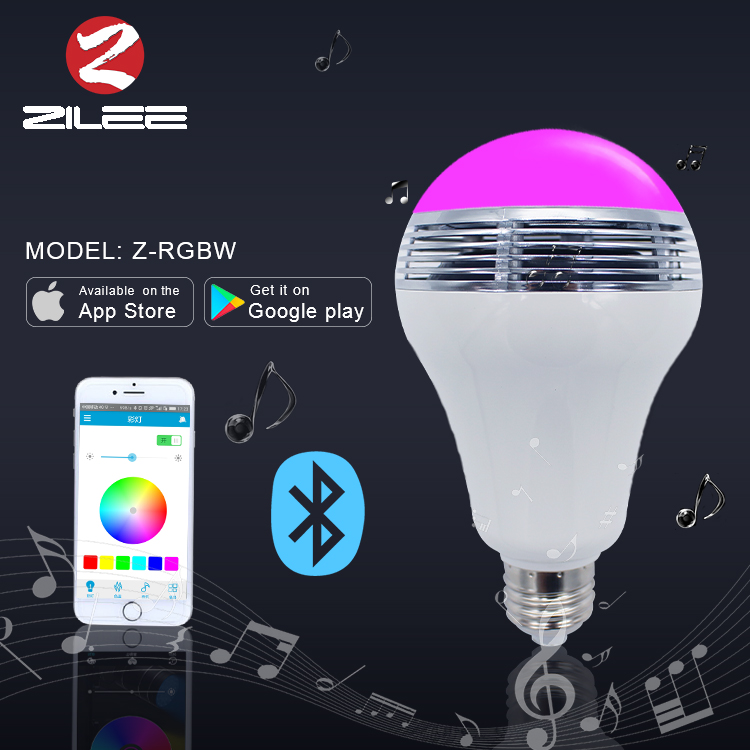 New arrival led music light,bluetooth led <strong>bulb</strong>,led speaker RGB dimmable lamp