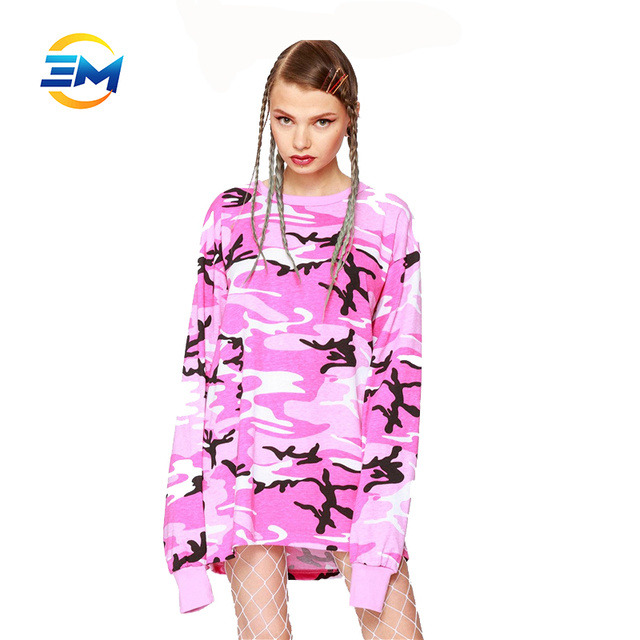 Fashion women dresses camouflage t shirt sportswear for wholesale