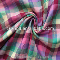 colorful metallic plaid yarn-dyed fabric for shoes, bags, dress