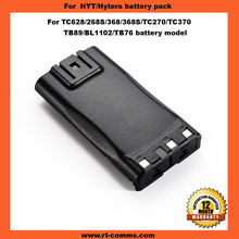 Two way radio battery pack TB89/BL1102 for HYT Hytera TC268/tc268s/tc368/tc368s/tc270/tc370