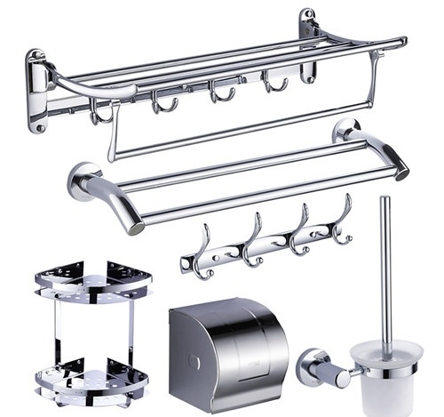 Custom Bathroom Hardware Set Die Cast Zinc