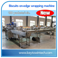 Biscuits on-edge packing machine