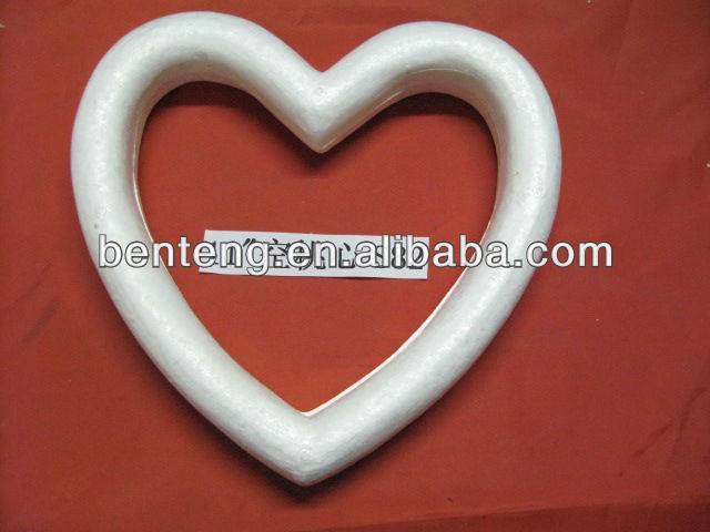 large Christmas decorative white craft wooden heart shapes