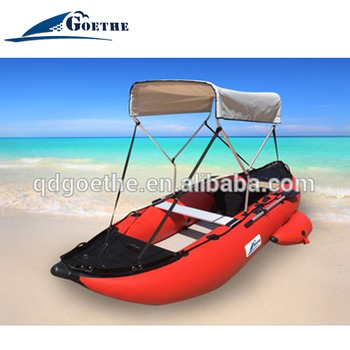 GTK435 Goethe New Type plastic rowing boat with transom and canopy