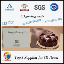 2015 christmas greeting card/3d lenticular greeting card/best wishes greeting card