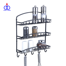 Kitchen Wall Mounted Metal Spice Rack