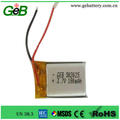 CE approve 3.7v rechargeable 502025 180mah with PCB