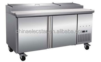 Stainless steel salad cabinet salad bar refrigerator sale / salad preparation table fridge sale / salad bar counter