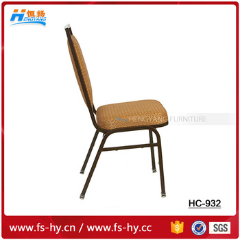 HC-932 design fabric cheap price steel molded seat banquet chair flat top