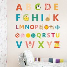 Big Graphic Alphabet Letters Kids Room/Nursery Wall Decal Stickers 30*90cm
