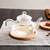 Pan hotsale Wholesale round chafing dishes for dinner teapot wooden plates