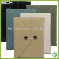 new arrival Top quality See larger image Leather postcard pouchi envelop case for ipad 2/3