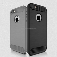 Case For Apple iPhone 5s 5 Carbon Fiber Texture Brushed Soft Silicone TPU Back Cover For iPhone SE 5S M-001