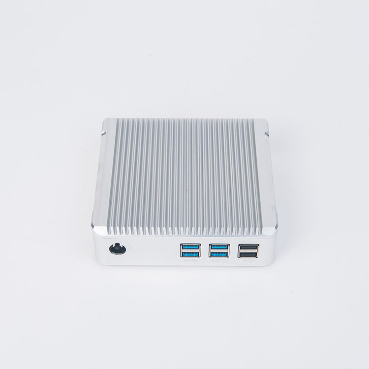 Mini ITX Alloy Palm Computer Fanless Broadwell Core i3 4010u Intel HD4400 Linux Mini Nuc PC 4GB RAM 16GB SSD WIFI USB3.0 LAN