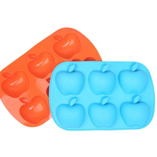 New design 6 apple shaped silicone handmade soap mold cake mold with food grade silicone