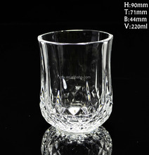 Decorative diamond glass cup,GLASS WATER CUP whiskey glass