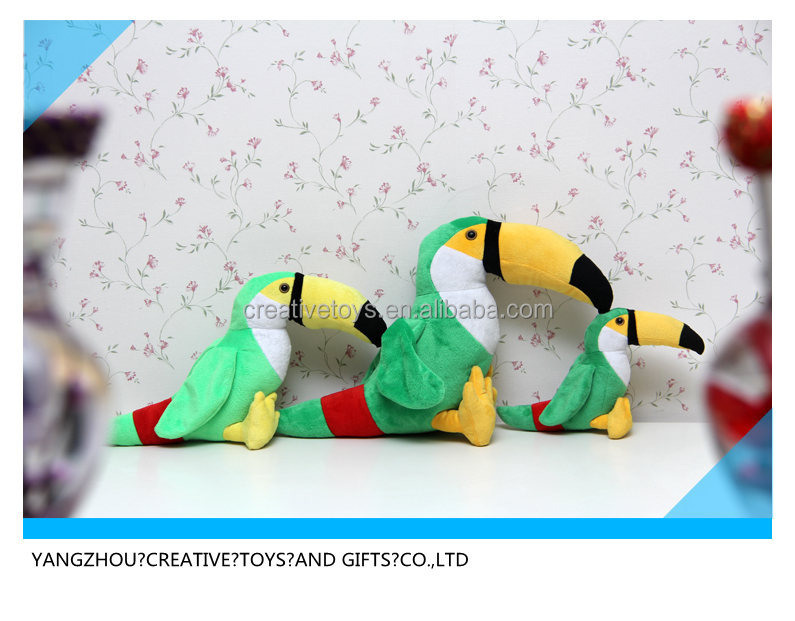 talking parrot plush toy with high quality colorful plush parrot