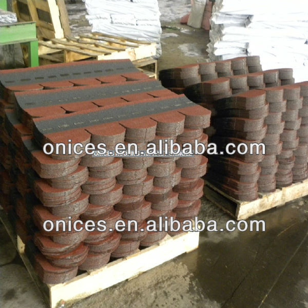 Asian Red Fish scale fiberglass asphalt shingle