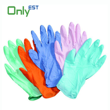 Nonsterile ISO CE certificated nitrile colored exam glove for medical/food/industry