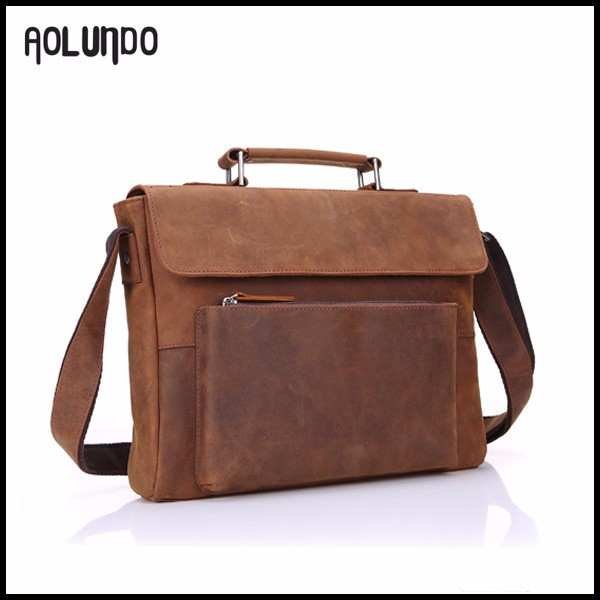 Wholesale new brown mens vintage leather shoulder messenger bag