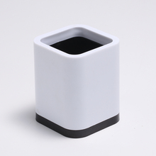 82*82*102 mm size white plastic pen holder pen container