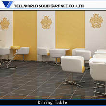 Tell World Brand modern restaurant artificial marble dining table new model