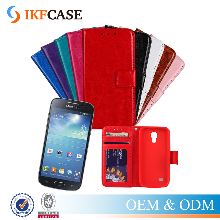 New Arrival Quality Leather TPU Mobile Cover Case For Samsung Galaxy S4 Mini I9190