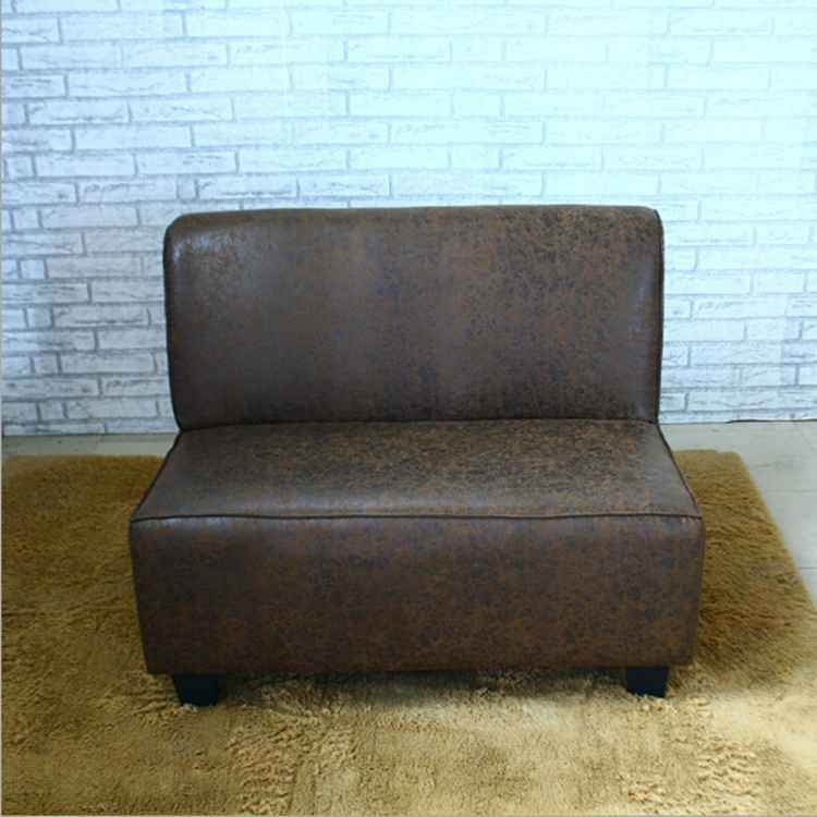 Simple And Durable Leather Booth Sofa Seat For Restaurant