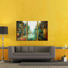 Hot Selling Sunset Street Abstract Oil Painting on Canvas