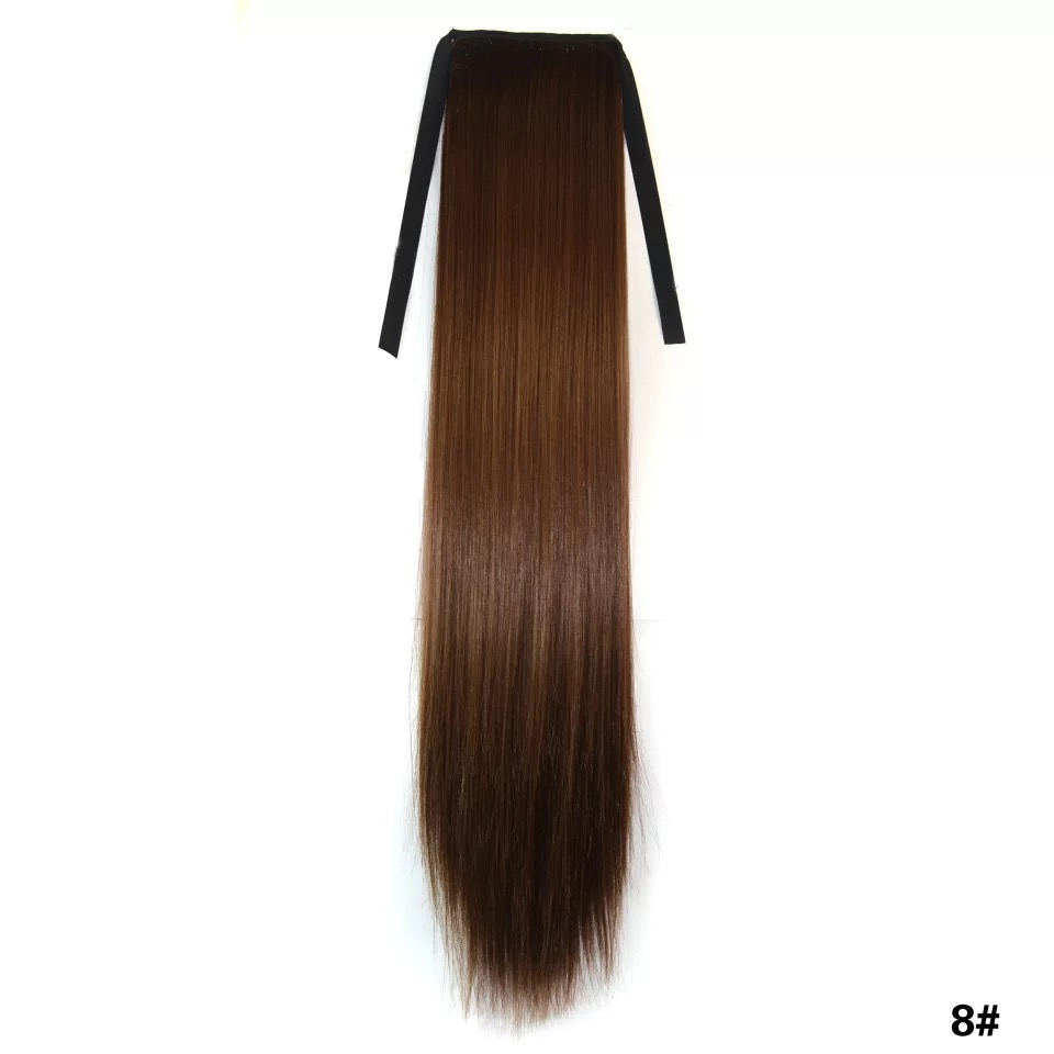 The best selling fashion long straight ponytail wholesale lady tape ponytail hair extension