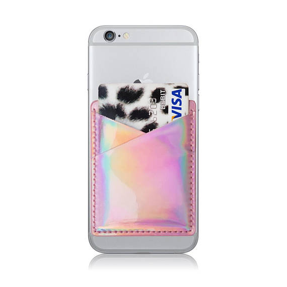2019 new korea mobile phone <strong>accessories</strong> shiny pu phone back card holder