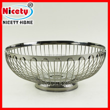 s/s 201 perforated stainless steel fruit empty basket