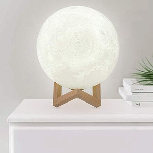 New trend birthday gift touch sensor battery operated led lunar lamp 3d moon light 20cm